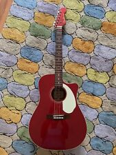 New listing Fender Sonoran Sce Acoustic Electric Guitar Candy Apple Red