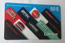 SWISS CHALET Limited Edition Gift Card New No Value BILINGUAL RECHARGEABLE