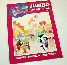 New Jumbo Littlest Petshop LPS Coloring & Activity Book Puzzles Games and More