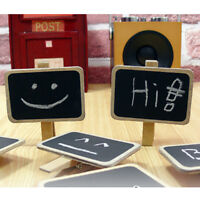 Standing Wooden Photo Holder Card Paper Note Memo Clip Desk Decor@@