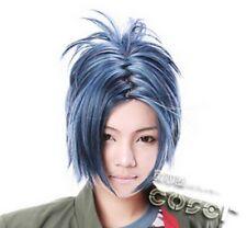 W-174 Katekyo Hitman Reborn Rokudo perruque COSPLAY bleu blue