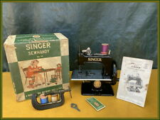 RARE ANTIQUE SINGER SEWHANDY MODEL 20 ~BLACK SIDE~ TOY HAND CRANK SEWING MACHINE