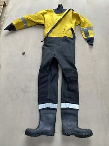 Ex Fire & Rescue Safequip Water Rescue Drysuit Immersion Suit Various Sizes -...