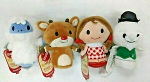 SUPER DEAL!! Hallmark Itty Bittys ~ RUDOLPH 4 PC SET ~ Toys for Tots Plush ~ NWT