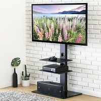 TV Stand Mount Hold Up Table Top for most 32 - 65 inch Flat Screen TVs Smart TV