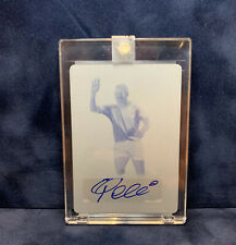 PELE 2016 Leaf IMMORTAL COLLECTION AUTOGRAPH Printing Plates Yellow SEALED #1/1