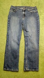 Riders by Lee womens 12P denim blue jeans relaxed fit waist 34 inseam 30