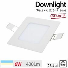 Downlight cuadrado 6W ultrafino 30 LED baño pasillo luz techo blanco iluminacion