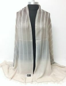 Ombre Stripes sheer panel Long Scarf Men Fashion Soft Shawl Wrap Scarves NEW