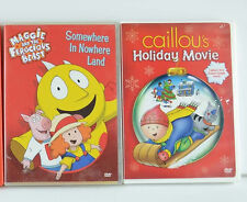 3 DVD LOT Caillou Maggie and the Ferocious Beast Children Kids