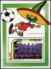 St. Vincent 1986 $1.50 World Cup Football MNH M/S #D7380