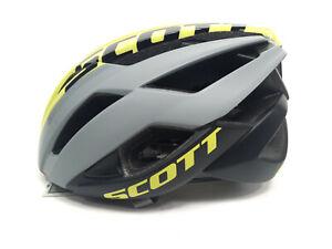 Scott ARX Plus MIPS Bicycle Helmet, Large 59-61cm, Gray/Yellow