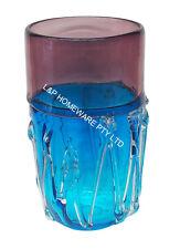 Glass table/Floor Living Vase home decor blue dark purple Brand new 20cm*35cm
