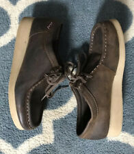 Clarks Padmora Size 7.5 Chukka Wallabee Low Boot Brown Smooth Leather 26060499