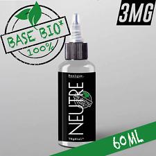 E-liquide 3mg Bio* Neutre 50%|50% 60ml Cigarette électronique 🔥PRIX PROMO 🔥