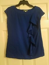Gianni bini royal blue ruffle top size small S