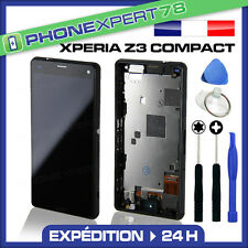 ÉCRAN LCD + VITRE TACTILE SUR CHASSIS SANS LOGO SONY XPERIA Z3 MINI COMPACT NOIR