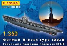 U-BOOT TYPE IX A/B  WW II SUBMARINE (17 MKGS OPTIONS) 1/350 FLAGMAN