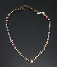 "Retired SORRELLI Swarovski Crystal Choker Necklace Lollipop Line 15"" w Exten"