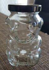Vintage Kraft 4.75inch Teddy Bear Glass Jar Metal Lid - RP 89