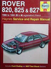 Haynes Owners Workshop Manual Rover 820 825 827 Vitesse (86-95) SERVICE REPAIR