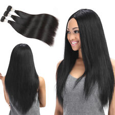 Synthetic Silky Straight Hair Weave 1 Bundle Heat Resistant Hair Extensions