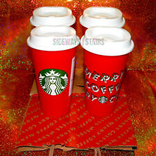 STARBUCKS 2019 2018 HOLIDAY RED CUPS & BAG reusable limited discount Christmas