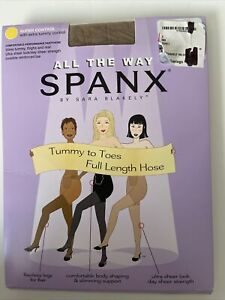 Spanx All the Way Tummy to Toes Full Length Hose Super Control  Size B Nude 1