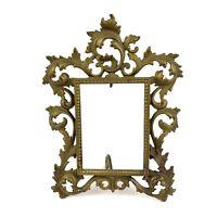 """Brass Art Nouveau Victorian V. Sautie Style Antique Picture Frame Ornate 10"""""""