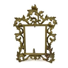 Brass Art Nouveau Victorian V. Sautie Style Antique Picture Frame Ornate 10""