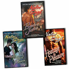 NALINI SINGH _ 3 BOOK SET _ BONDS OF JUSTICE HOSTAGE TO PLEASURE PLAY OF PASSION