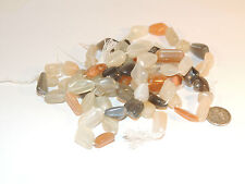 MoonStone Beads from India peach white grey (2566)
