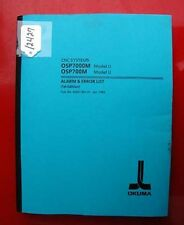 Okuma Cnc Systems Alarm & Error List Model U Eem7-001-R1 (Inv.12427)