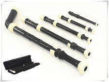 Woodnote Recorder Set-5 Pieces/Bass/Tenor/Alto/Soprano/Sopranino - Black/Ivory