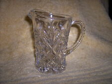 Vintage - Clear Pattern Glass Pitcher