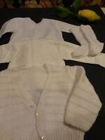 pour colin ,raynal ,snf 4piéces vintage ,piqué et tricoté  le lot blanc