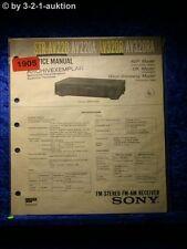 Sony Service Manual STR AV220 / AV220A / AV320R / AV320RA Receiver (#1905)