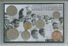 Real Madrid Vintage Coupe d'Europe (ligue des champions) gagnants Coin Ensemble Cadeau 1960