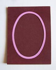 cadre passe-partout photo - Oval - Bordeaux - rose