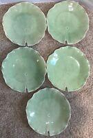 Vance Kitira CONTOUR HERBAL GREEN Set of 5 Plates