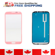 Samsung Galaxy Note 2 Pink Front Glass Lens And Adhesive Sticker