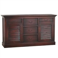 SILVANO CHEST OF 5-DRAWERS - SOLID MAHOGANY TIMBER - AGED HONEY COLOUR
