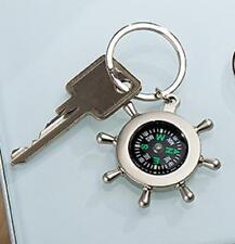 "Gilde Schlüsselanhänger "" Ruderrad mit Kompass "" Metall; silberfarbend,Geschenk"