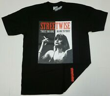STREETWISE MISTRUST T-shirt Urban Streetwear Adult Men's Tee Black New
