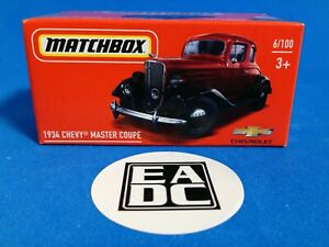 2021 MATCHBOX POWER GRABS 1934 CHEVY MASTER COUPE EADC