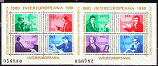 Romania 1980 Sc2948-49  MiBlk169-70  2 SS  mnh  Inter-European Cooperation