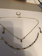 9ct Gold And Sapphire Jewellery Set