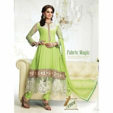 Green Georgette Bollywood Pakistani Indian Designer Anarkali Salwar Kameez Churi