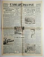 N533 La Une Du Journal L'ami du peuple 13 août 1937 combats déroulent Pékin
