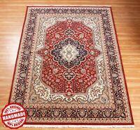 Medallion Hand Knotted Wool Area Rug 'Nahatabja' Handmade 5x8 Geometric Carpet